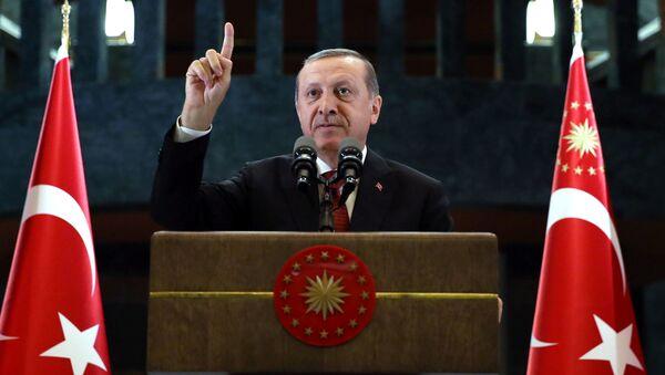 Przywódca Turcji Recep Tayyip Erdogan. - Sputnik Polska
