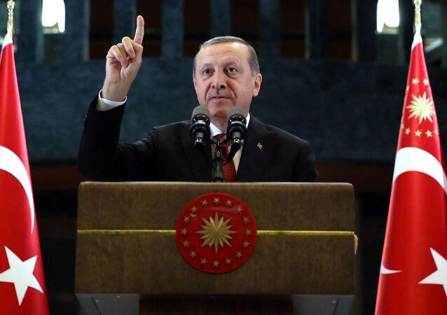 Przywódca Turcji Recep Tayyip Erdogan.