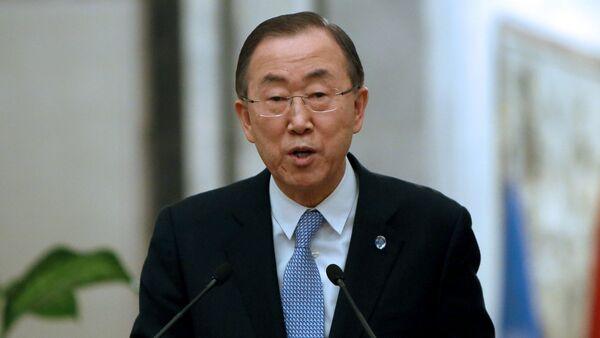 Sekretarz generalny  ONZ Ban Ki-Moon - Sputnik Polska