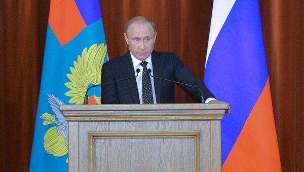 Prezydent Rosji Władimir Putin na spotkaniu ambasadorów i stałych przedstawicieli Federacji Rosyjskiej w zagranicznych państwach - Sputnik Polska