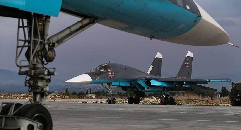 Su-34 w bazie Hmeimim