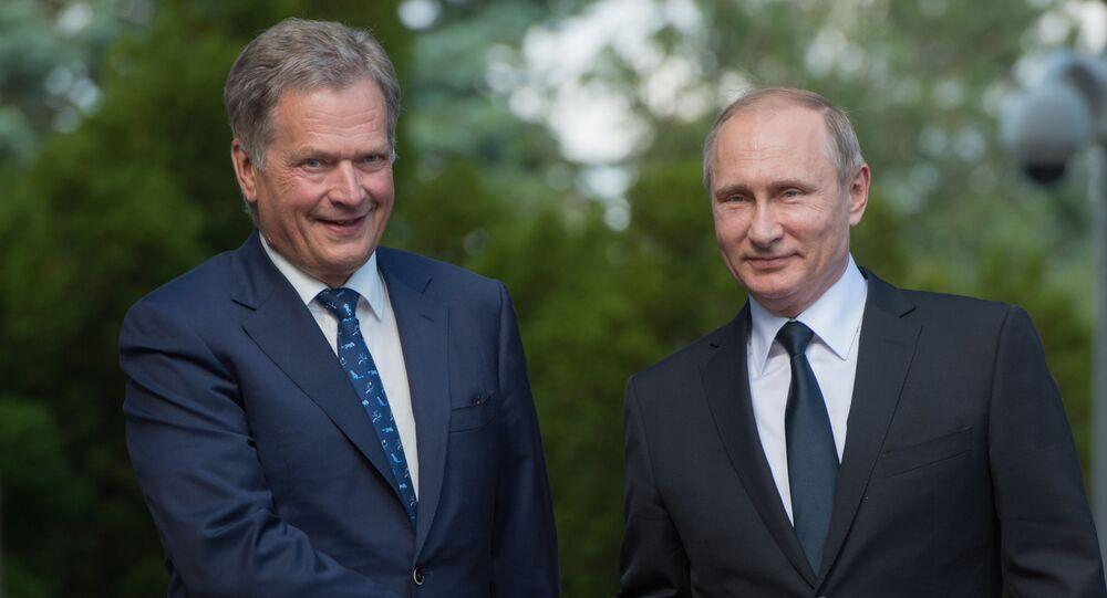 Prezydent Rosji Władimir Putin i prezydent Finlandii Sauli Niinistö