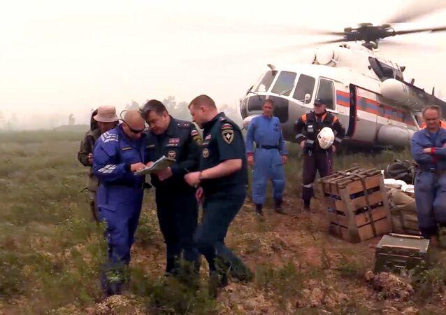Poszukiwania zaginionego Ił-76 w obwodzie irkuckim