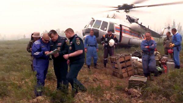 Poszukiwania zaginionego Ił-76 w obwodzie irkuckim - Sputnik Polska