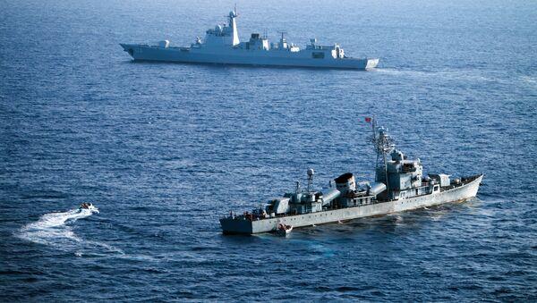 Chińskie okręty na Morzu Południowochińskim - Sputnik Polska
