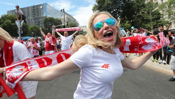 Polska kibicka w Marsylii na Euro 2016. - Sputnik Polska