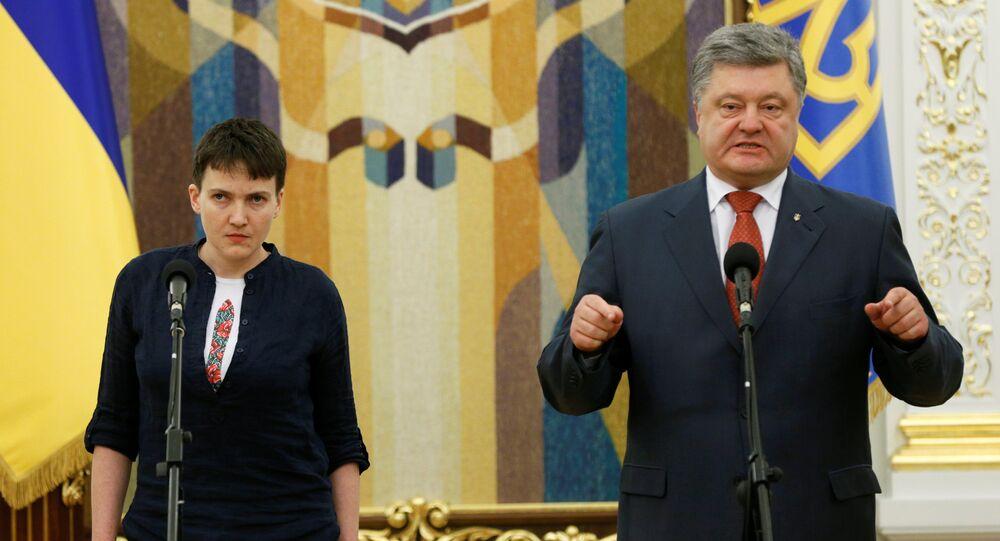 Nadieżda Sawczenko i Petro Poroszenko