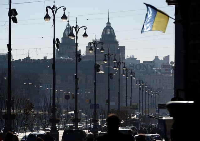 Widok na ulicę Chreszczatyk w Kijowie.