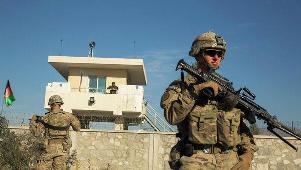 Żołnierz armii USA podczas misji w Afganistanie, 28 grudnia 2014 - Sputnik Polska