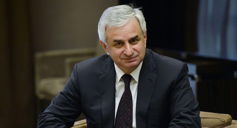Prezydent Abchazji Raul Chadżimba