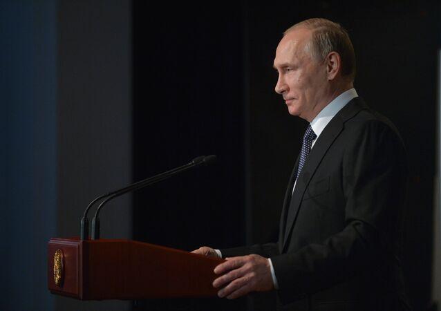 Prezydent Federacji Rosyjskiej Władimir Putin.