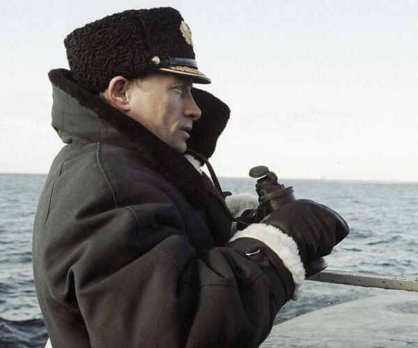 Władimir Putin na na rosyjskim okręcie atomowym Karelia - Sputnik Polska