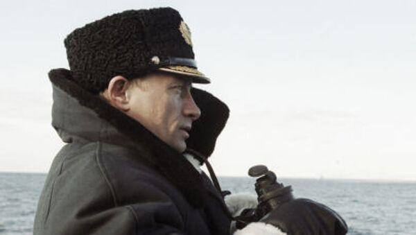 Władimir Putin na rosyjskim okręcie atomowym Karelia - Sputnik Polska