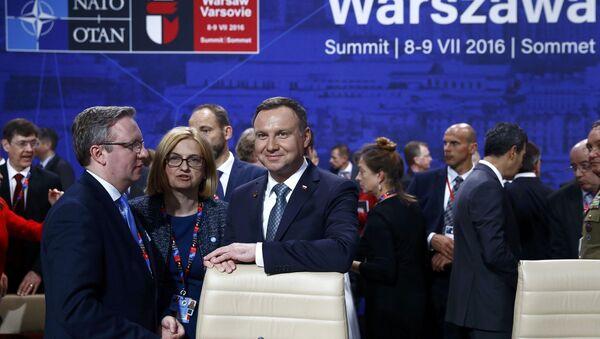 Prezydent Polski Andrzej Duda na szczycie NATO w Warszawie - Sputnik Polska
