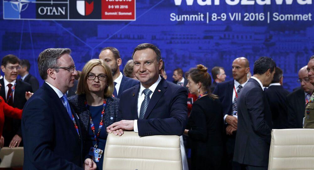 Prezydent Polski Andrzej Duda na szczycie NATO w Warszawie