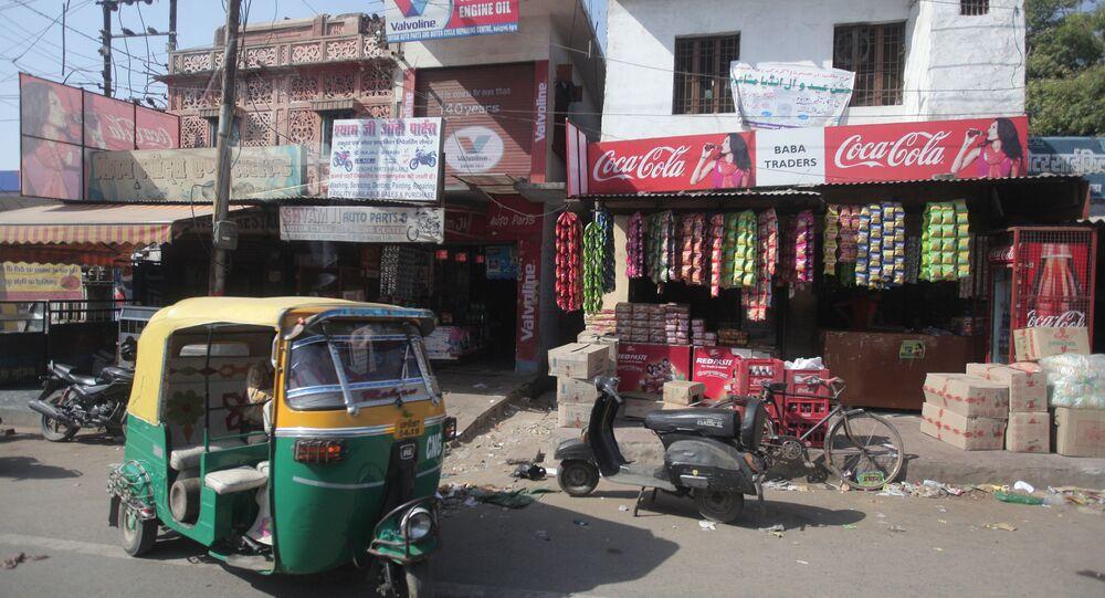 Ulica w mieście Agra w Indiach