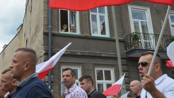 Marsz ku pamięci ofiar Rzezi Wołyńskiej w Polsce. - Sputnik Polska