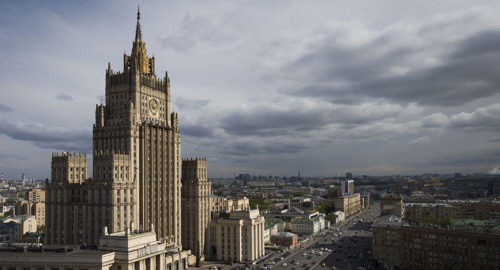 Siedziba MSZ Rosji na Bulwarze Zubowskim w Moskwie