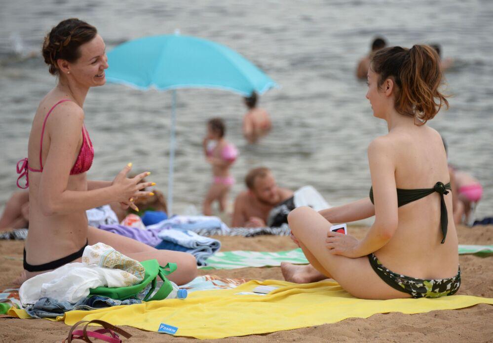 Plaża miejska w dzielnicy Strogino.