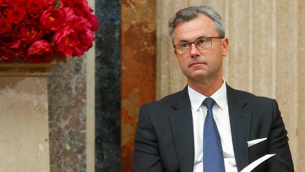 Kandydat na prezydenta Austrii z prawicowej Wolnościowej Partii Norbert Hofer - Sputnik Polska