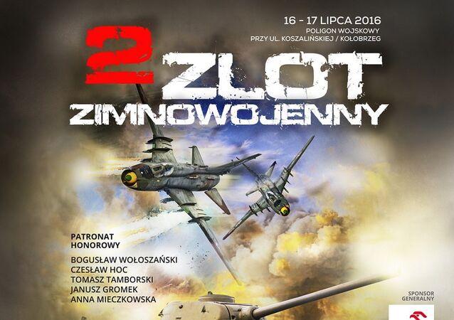 Plakat II Zlotu Zimnowojennego w Kołobrzegu