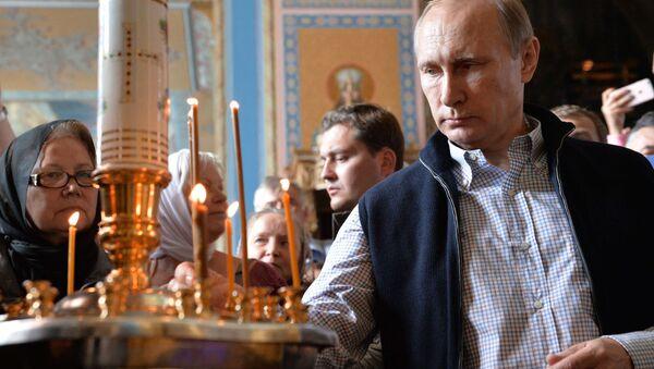 Prezydent Rosji Władimir Putin w Waałamskim Monasterze - Sputnik Polska