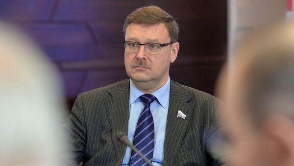 Przewodniczący Komitetu ds. Międzynarodowych Rady Federacji Konstantin Kosaczow - Sputnik Polska