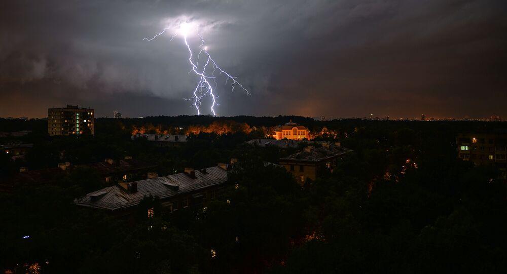 Moskwa podczas burzy