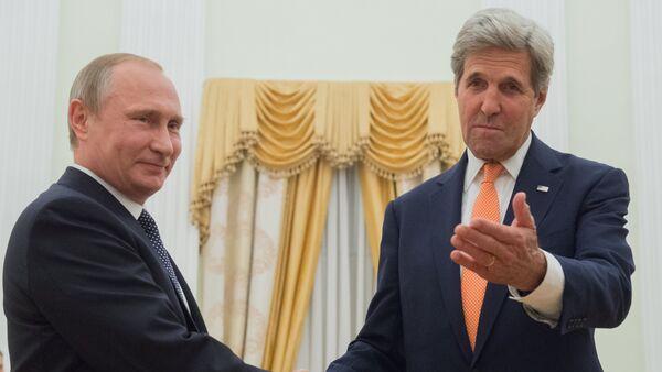 Kerry spotkał się z Putinem. - Sputnik Polska