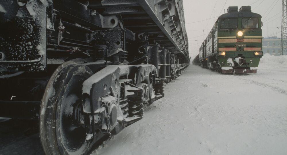 Pociągi na stacji w Norylsku