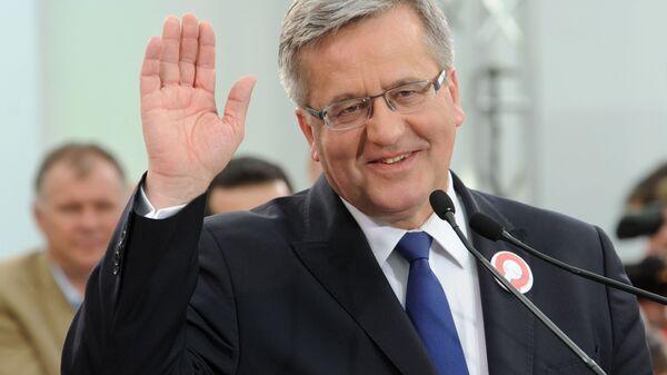 Prezydent Polski Bronisław Komorowski - Sputnik Polska