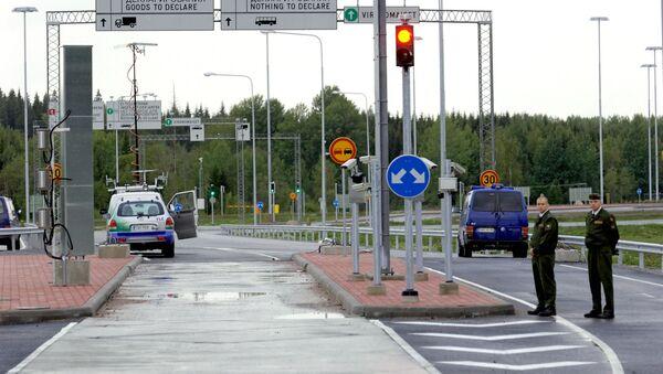 Punkt kontrolny na granicy rosyjsko-fińskiej - Sputnik Polska