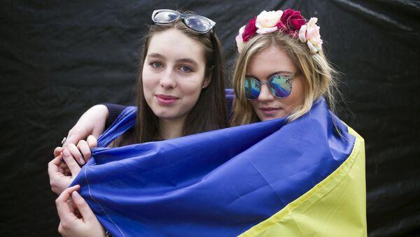 Mityng na rzecz poparcia ratyfikacji umowy stowarzyszeniowej UE z Ukrainą  - Sputnik Polska