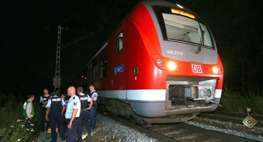 Atak z siekierą w kolei regionalej na odcinku Treuchtlingen - Würzburg