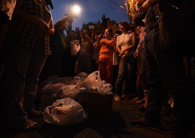 Starcia z policją w Erywaniu