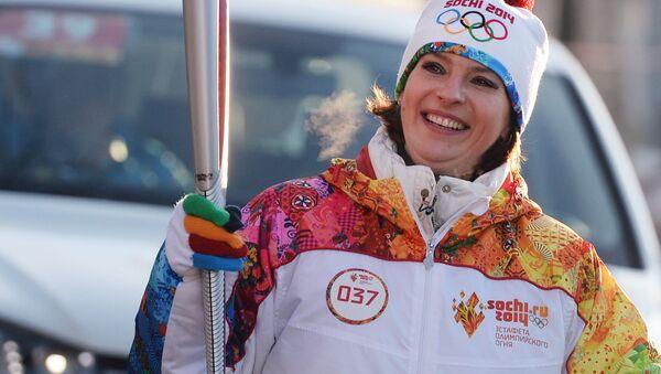 Olga Bogosłowska, mistrzyni świata i srebrna medalistka Igrzysk Olimpijskich w lekkiej atletyce. - Sputnik Polska