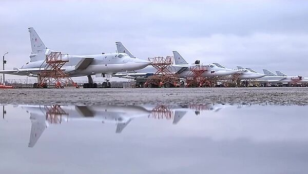 Tupolev Tu-22M3 strategic bombers hit terrorists in Syria - Sputnik Polska