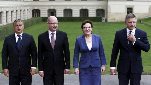 Premierzy państw Grupy Wyszehradzkiej - Sputnik Polska