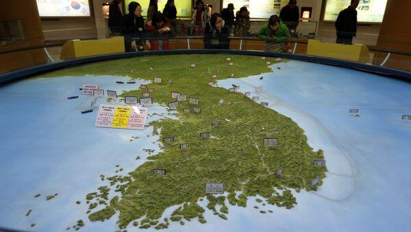 Mapa Półwyspu Koreańskiego w południowokoreańskim obserwatorium - Sputnik Polska