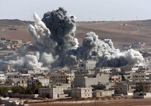 Kobani po bombardowaniach amerykańskich sił powietrznych, Syria