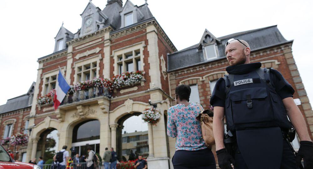 Saint-Etienne de Rouvray. Zamach.