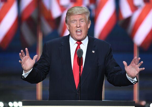 Kandydat na prezydenta Partii Republikańskiej USA Donald Trump