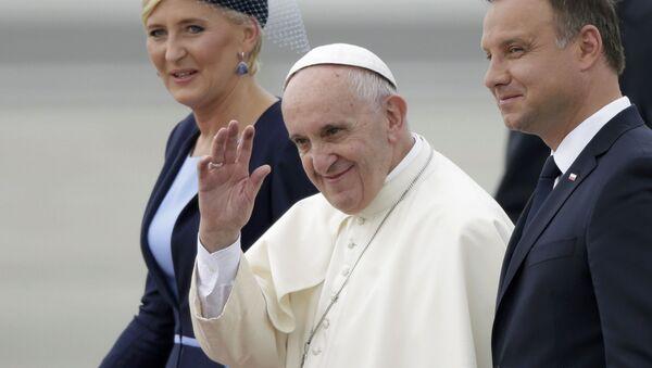 Papież Franciszek, prezydent Andrzej Duda z małżonką - Sputnik Polska