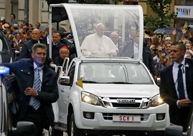 Powitanie papieża Franciszka w Krakowie, ŚDM 2016