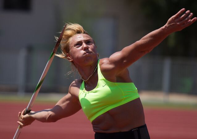 Rosyjska lekkoatletka Mariya Abakumova.