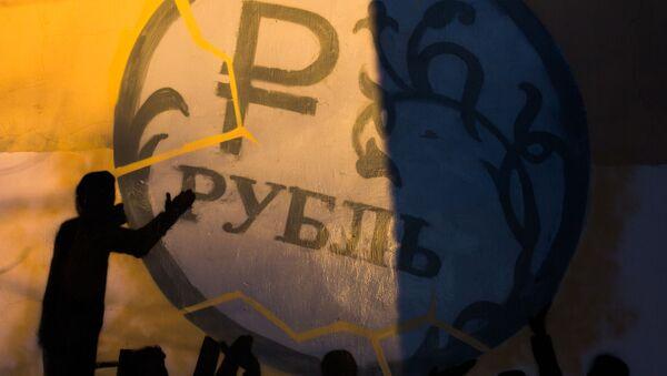 Rubel - graffiti w Petersburgu - Sputnik Polska