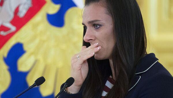 Dwukrotna mistrzyni olimpijska Jelena Isinbajewa podczas spotkania na Kremlu - Sputnik Polska
