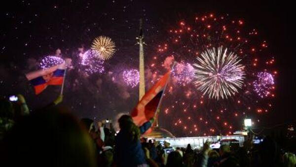 Pokaz fajerwerków w Moskwie na cześć 70. rocznicy Zwycięstwa w Wielkiej Wojnie Ojczyźnianej - Sputnik Polska