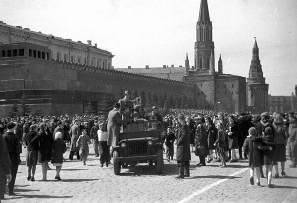 Plac Czerwony 9 maja 1945 - Sputnik Polska
