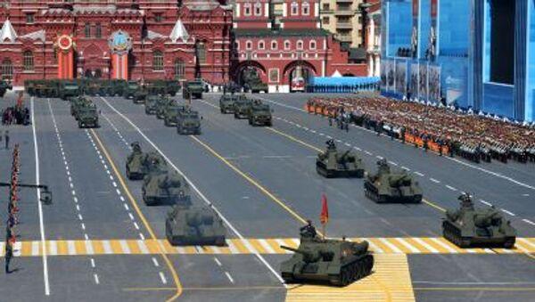 Колонна военной техники во время военного парада в ознаменование 70-летия Победы в Великой Отечественной войне 1941-1945 годов - Sputnik Polska
